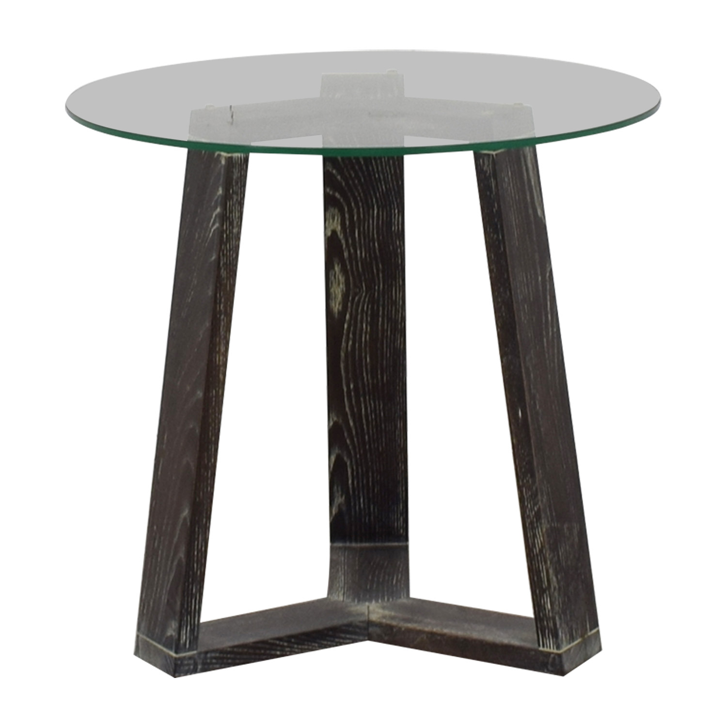West Elm West Elm Round Glass Side-Table Tables