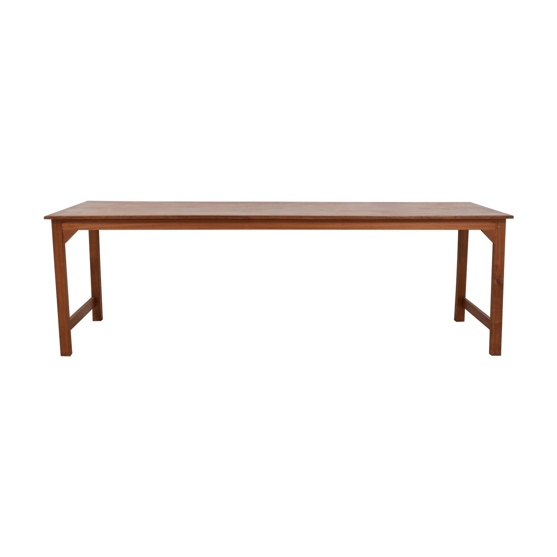 Custom Mahogany Wood Dining Table