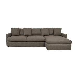 Crate & Barrel Lounge II Grey Chaise Sectional Crate & Barrel