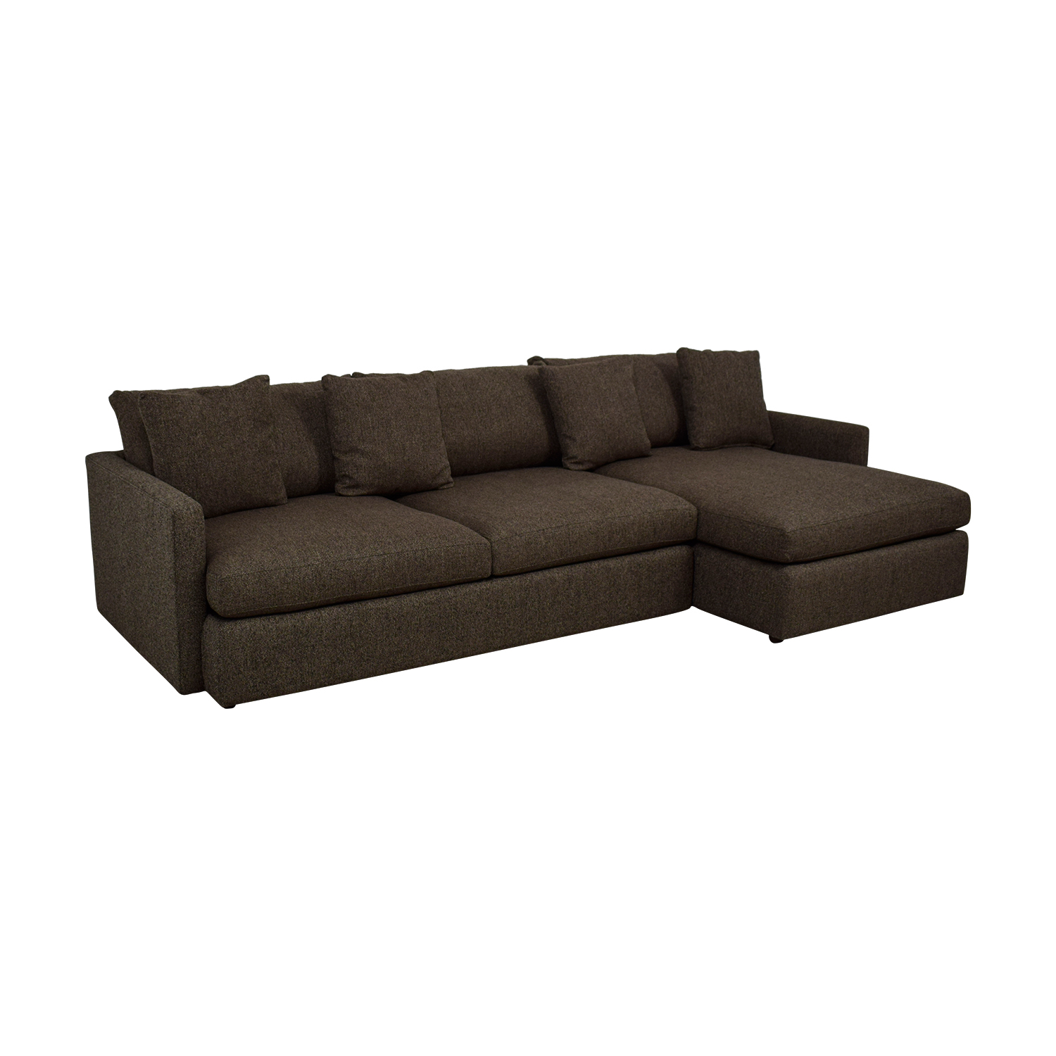 62% OFF - Crate & Barrel Crate & Barrel Lounge II Grey Chaise Sectional /  Sofas