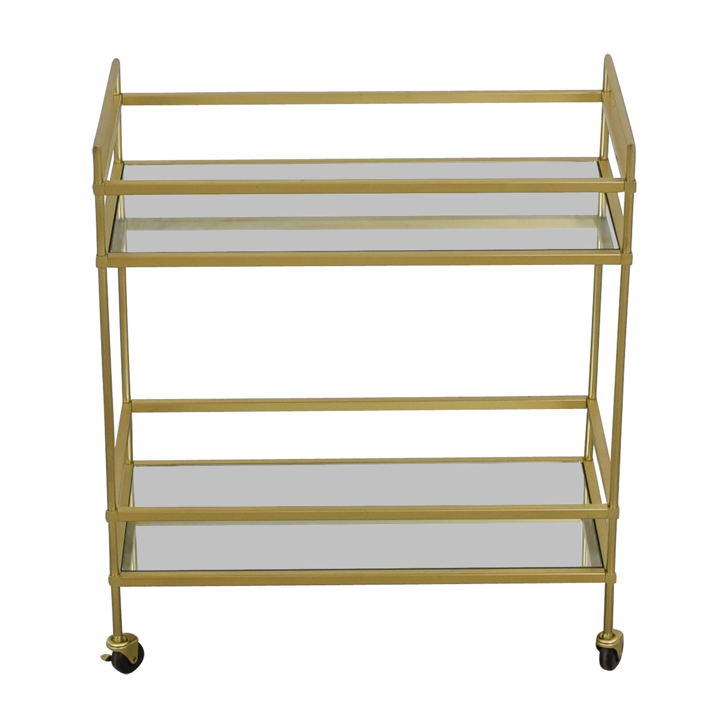 West Elm West Elm Terrace Glass and Brass Bar Cart discount