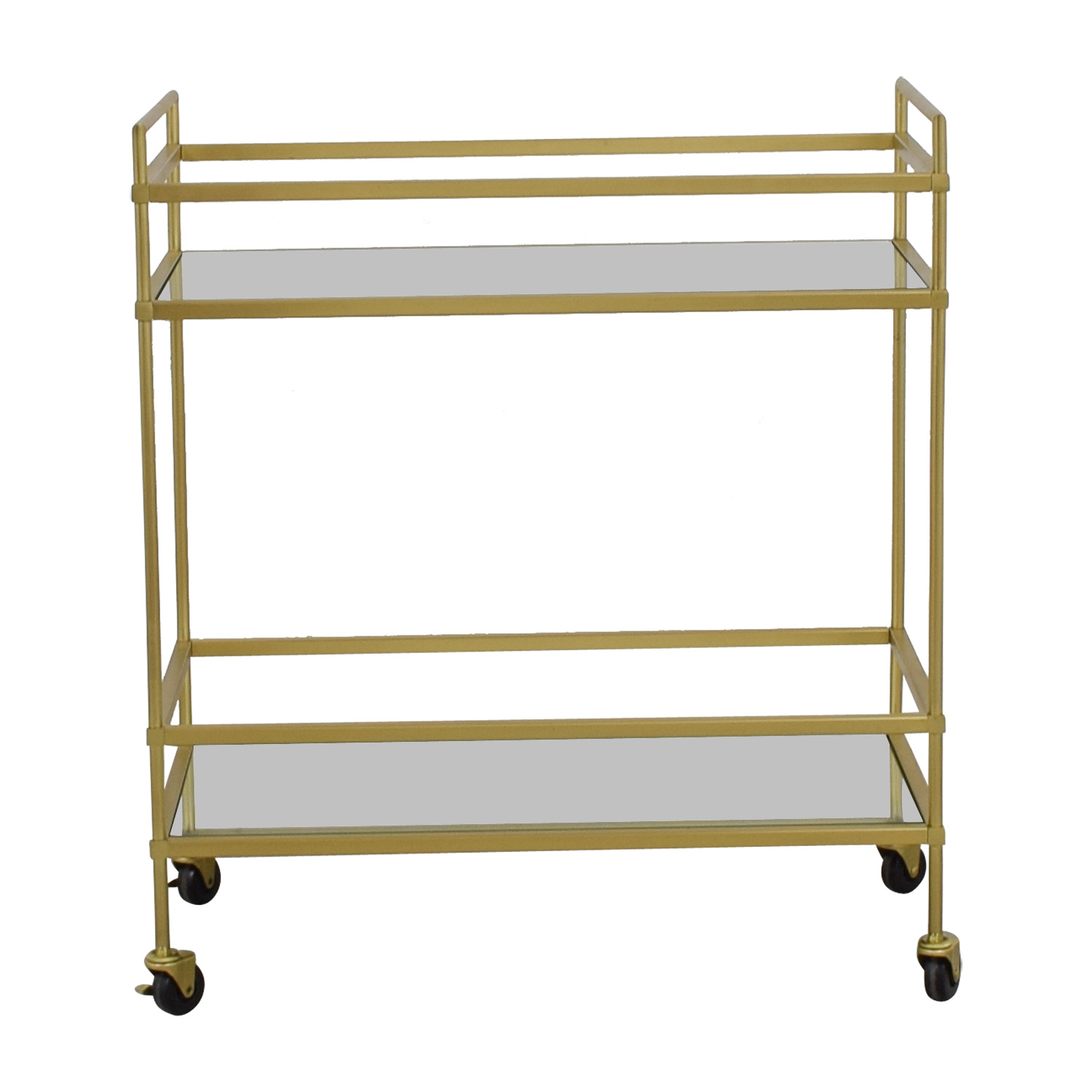 West Elm West Elm Terrace Glass and Brass Bar Cart second hand