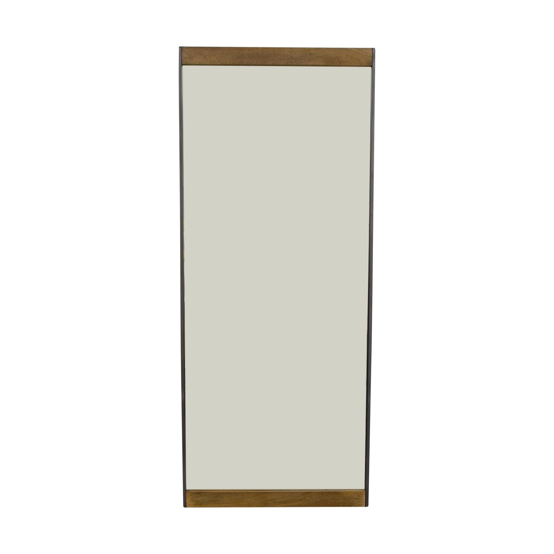 West Elm West Elm Mango Wood Industrial Floor Mirror nj