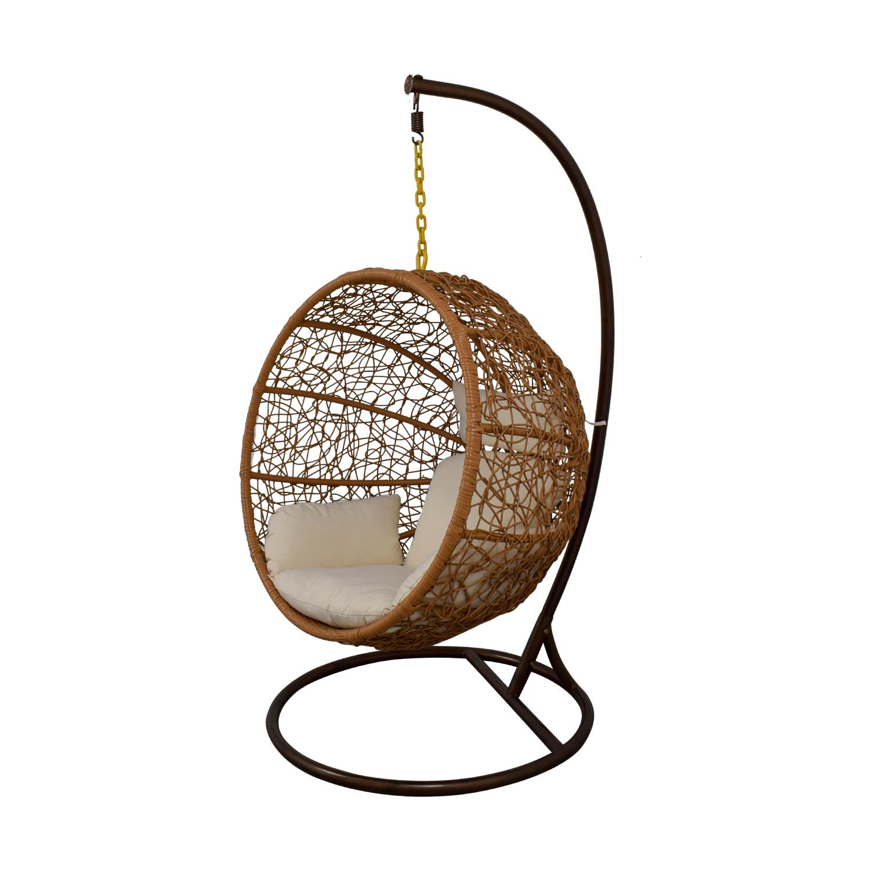 Zolo Zolo Outdoor Wicker Hanging Lounge Chair dimensions  sc 1 st  Kaiyo & 74% OFF - Ceets Zolo Outdoor Wicker Hanging Lounge Chair / Chairs