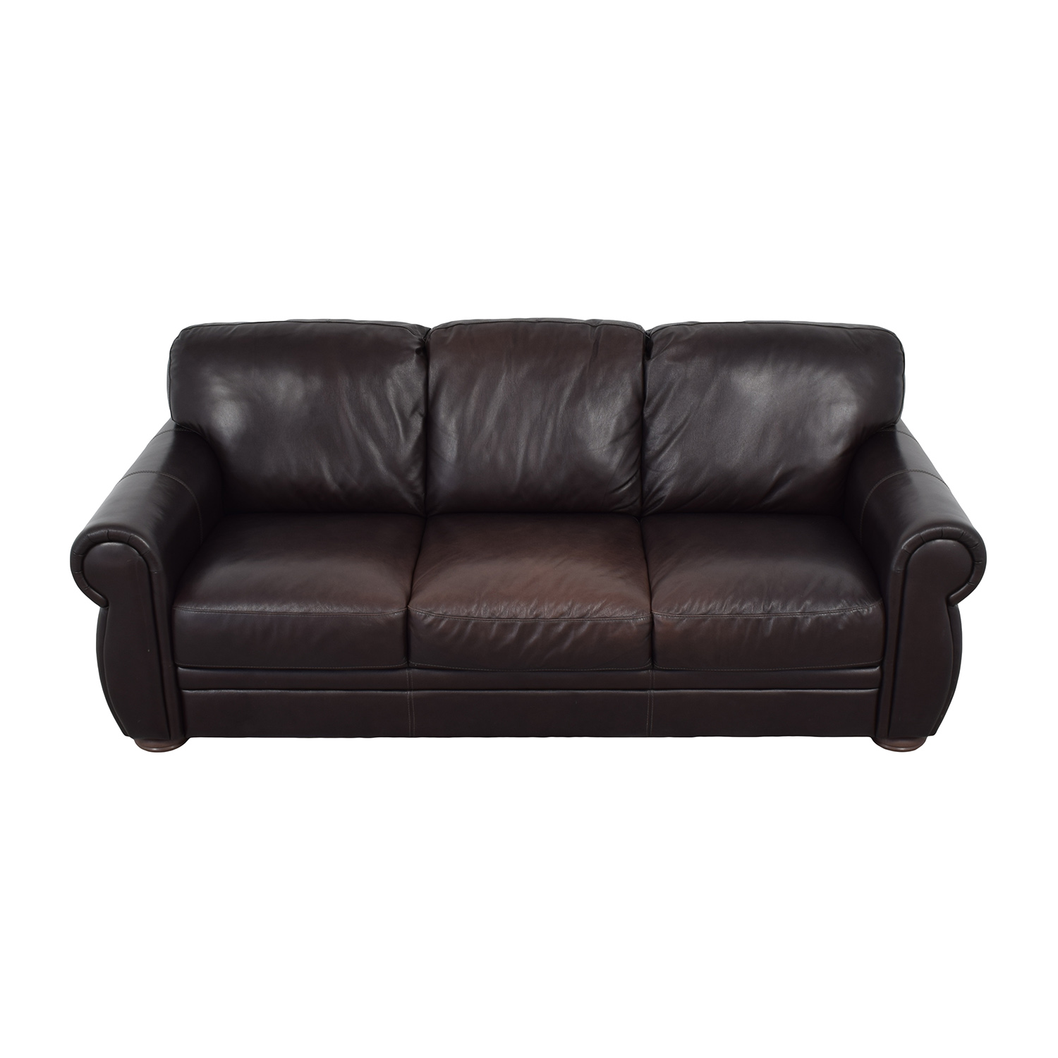 buy Raymour & Flanigan Marsala Leather Sofa Raymour & Flanigan