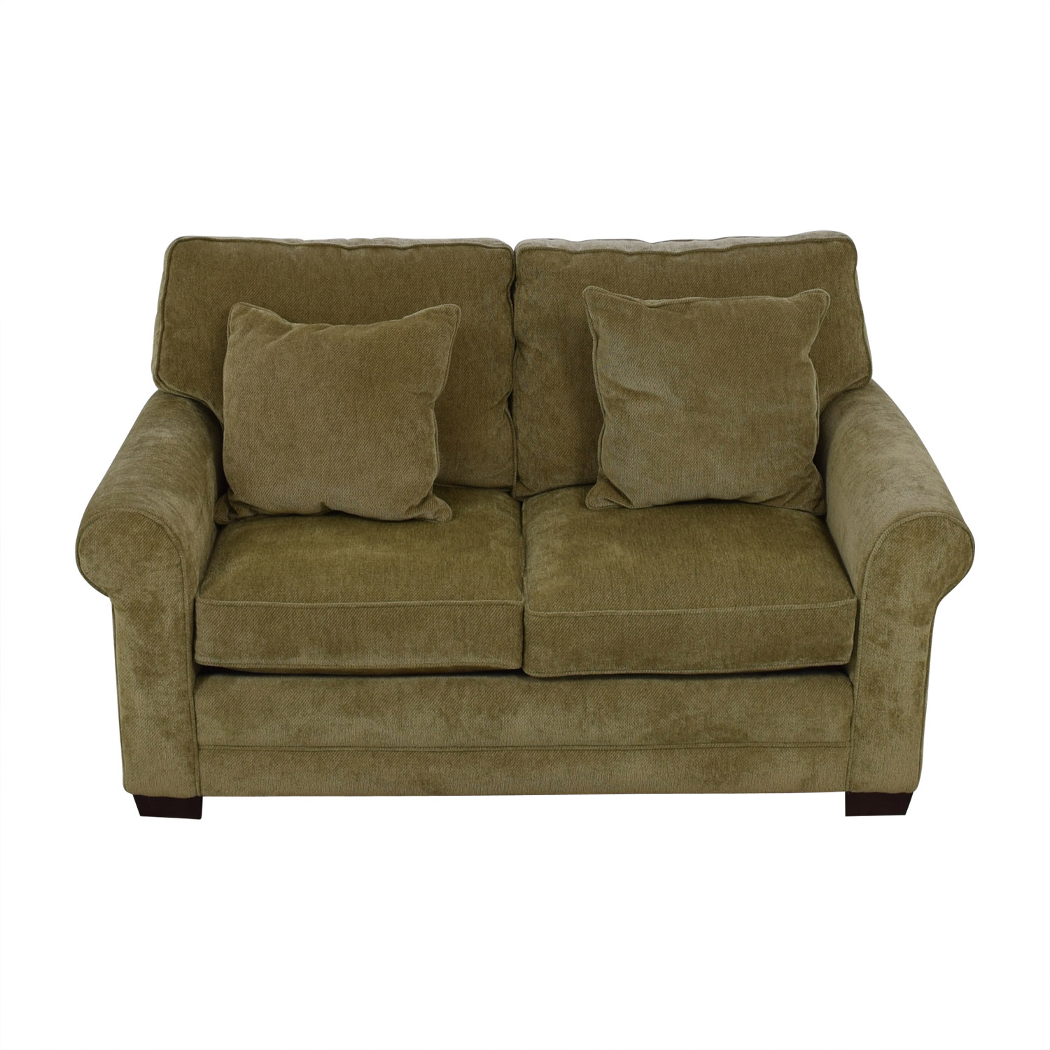 Raymour & Flanigan Raymour & Flanigan Gray Two-Cushion Love Seat discount