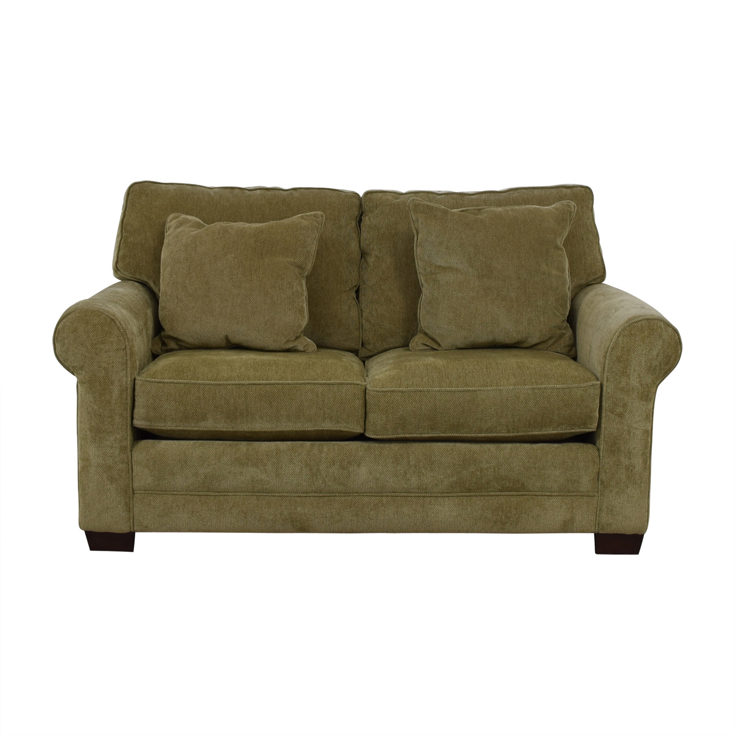 buy Raymour & Flanigan Gray Two-Cushion Love Seat Raymour & Flanigan Loveseats