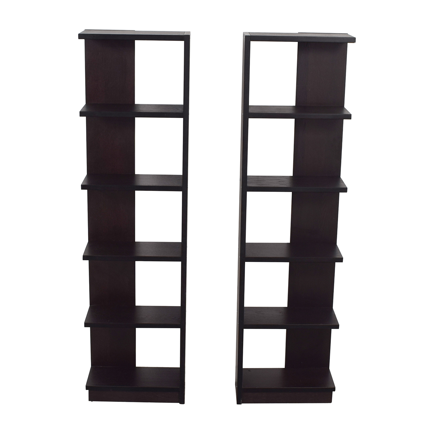 Crate & Barrel Crate & Barrel Elements Reversible Wood Bookcases second hand