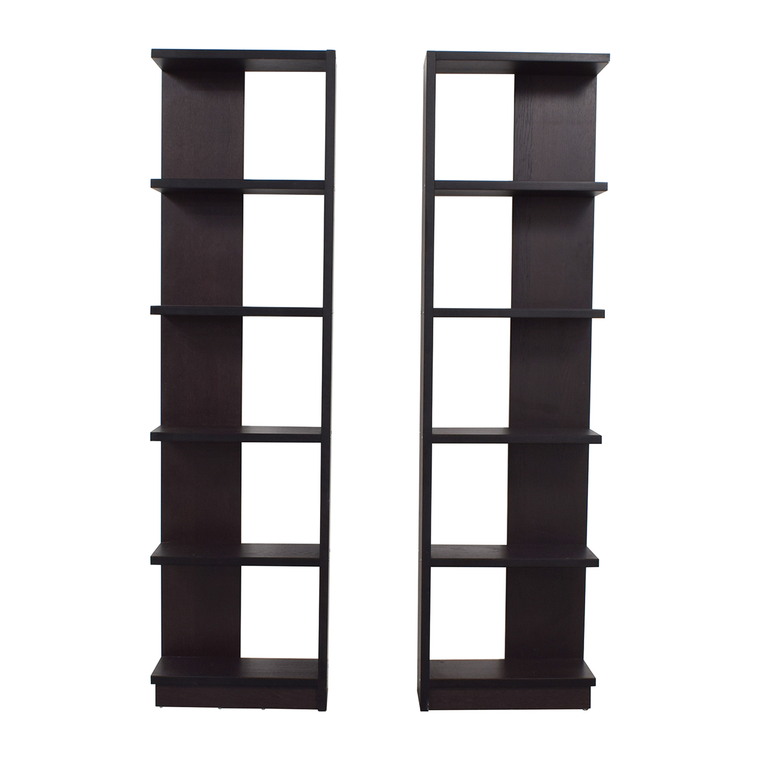 Crate & Barrel Crate & Barrel Elements Reversible Wood Bookcases on sale