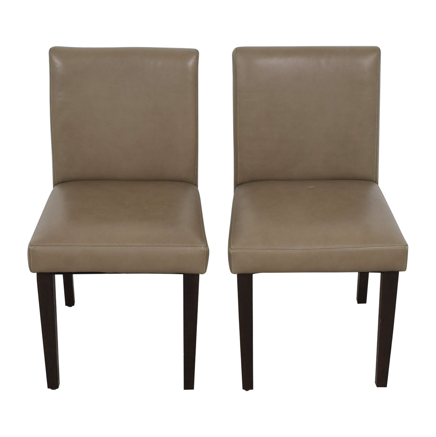 Porter Leather Chair Set Of 2: West Elm West Elm Porter Taupe Leather Dining