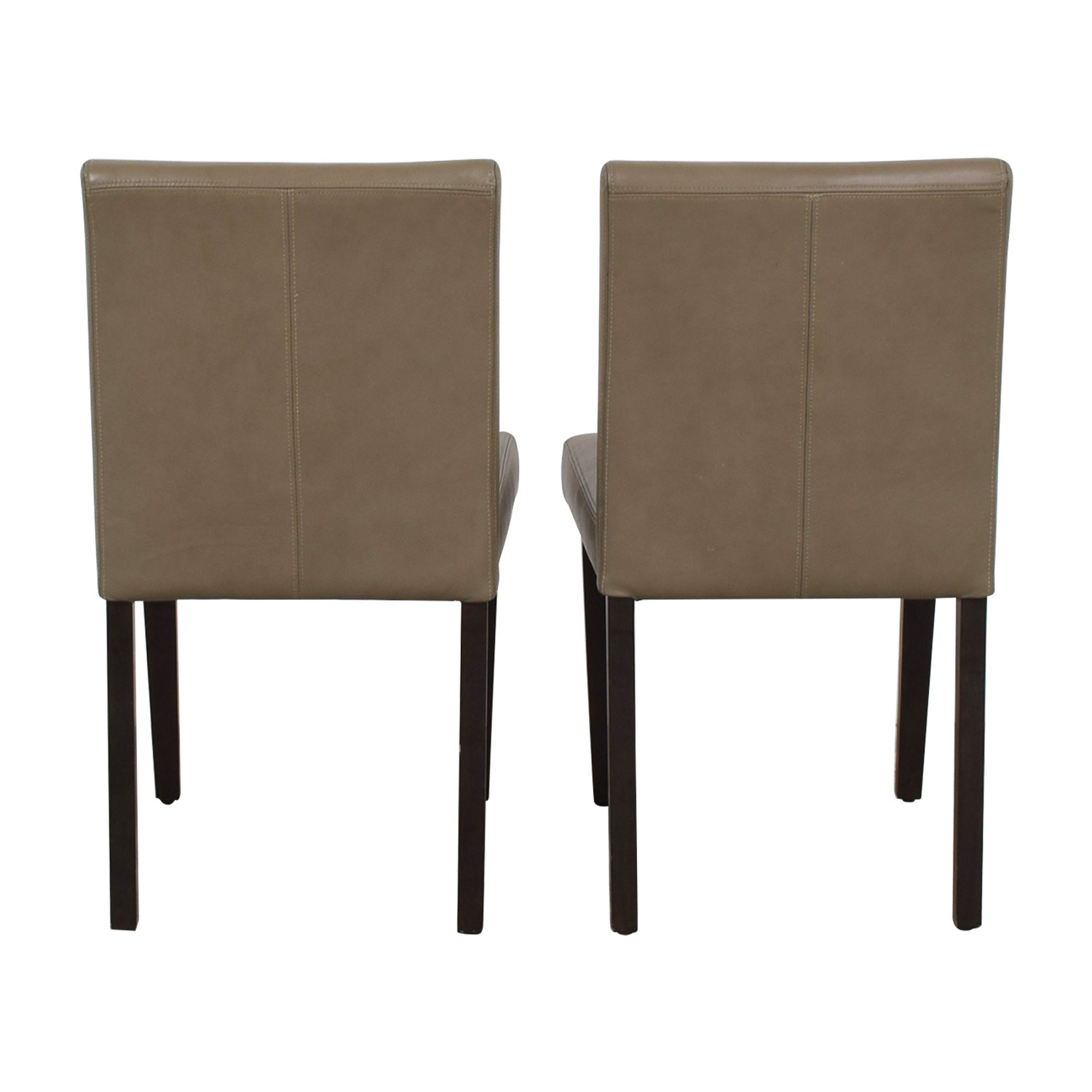 shop West Elm Porter Taupe Leather Dining Chairs West Elm Sofas