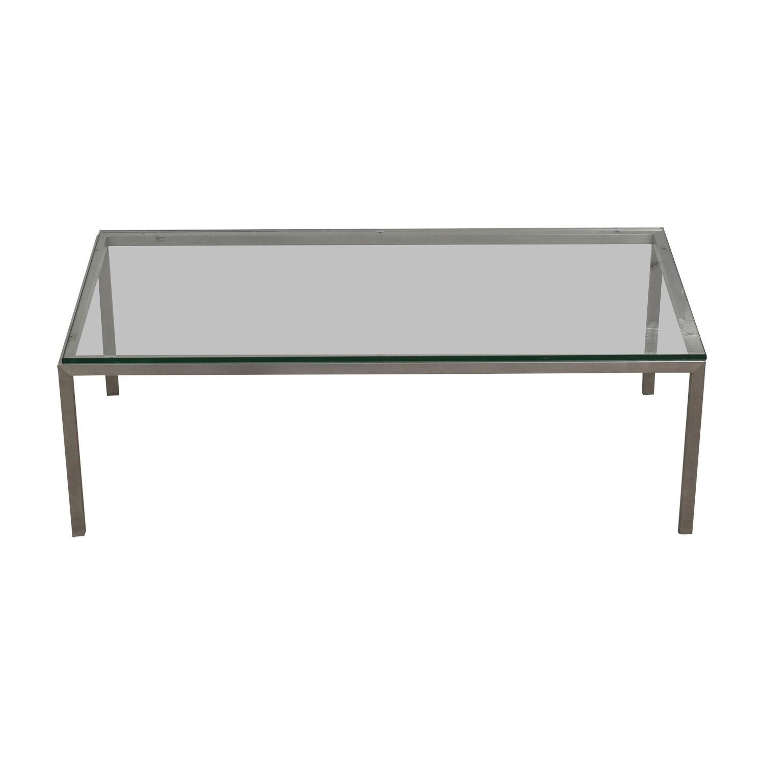 Room and Board Room & Board Portica Glass and Chrome Coffee Table used