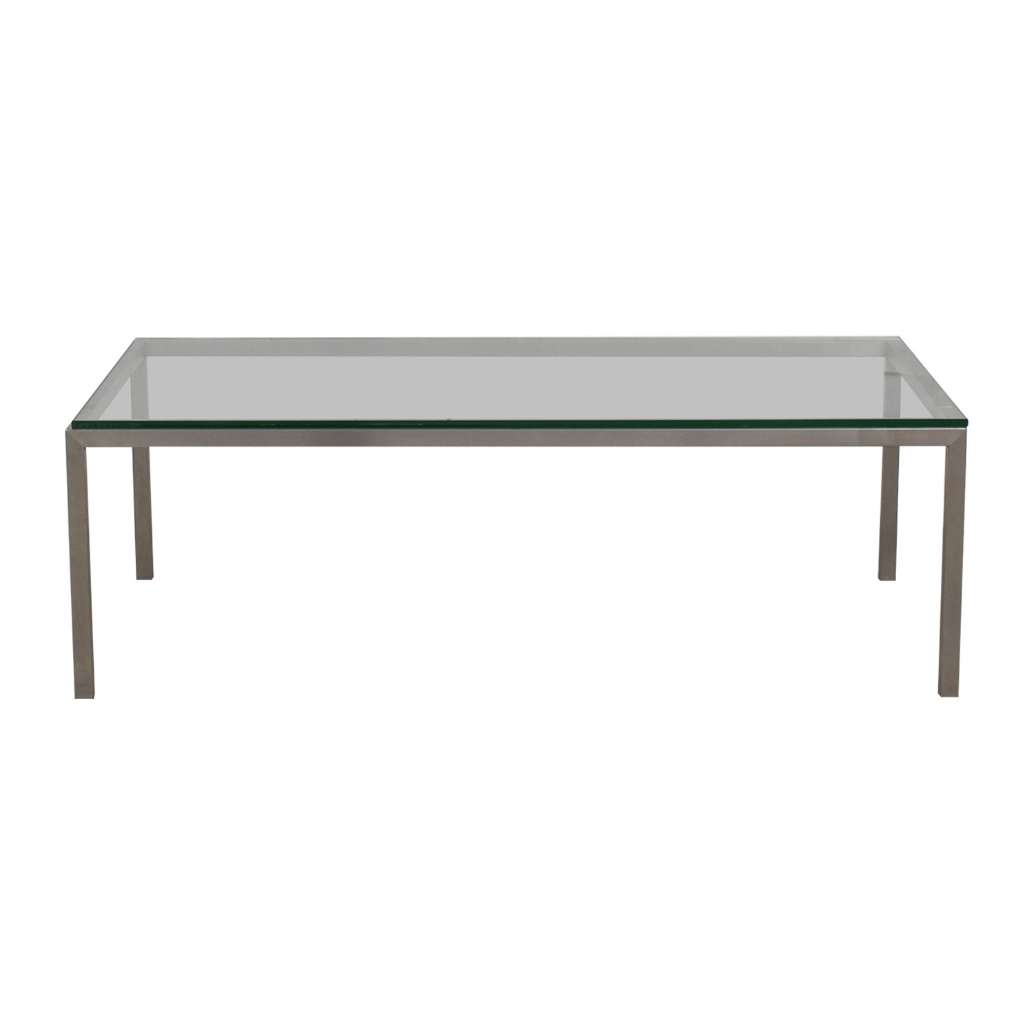 Room and Board Room & Board Portica Glass and Chrome Coffee Table nyc