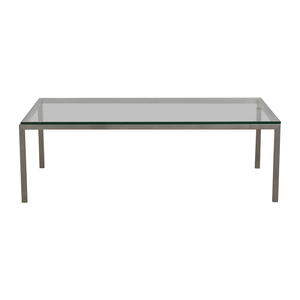 Room & Board Room & Board Portica Glass and Chrome Coffee Table on sale