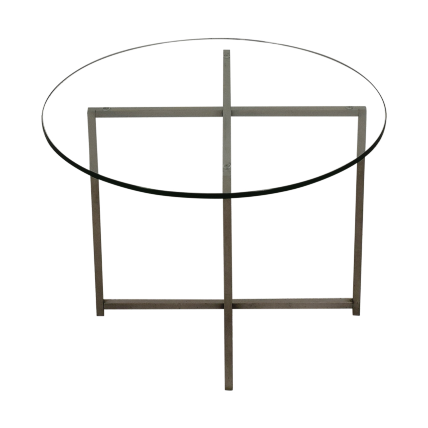 Room & Board Stainless Steel and Glass End Table sale