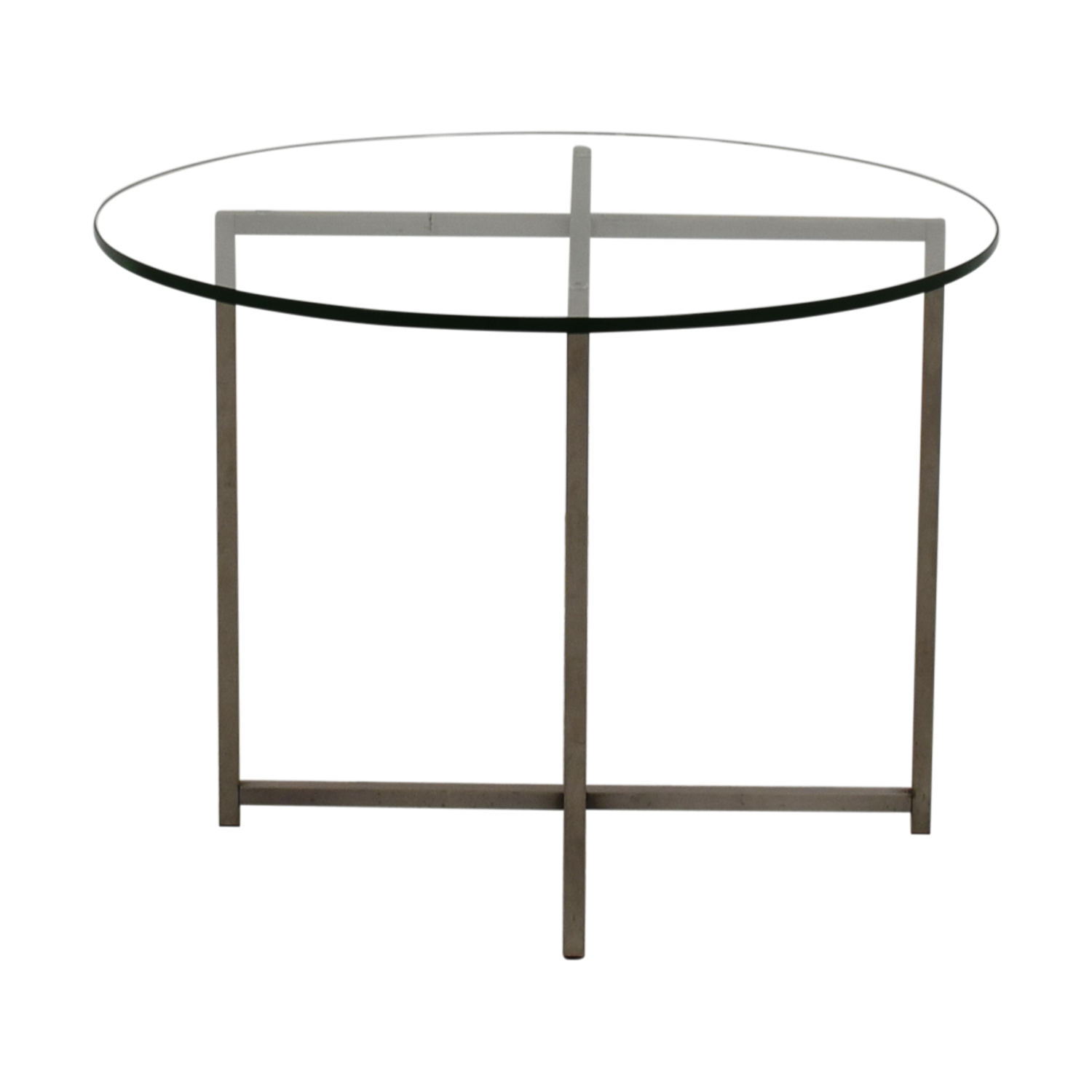 Room and Board Room & Board Stainless Steel and Glass End Table coupon