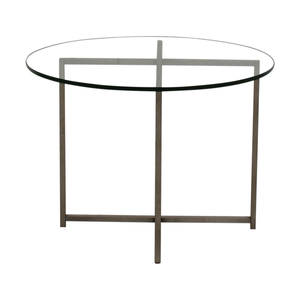 buy Room & Board Room & Board Stainless Steel and Glass End Table online