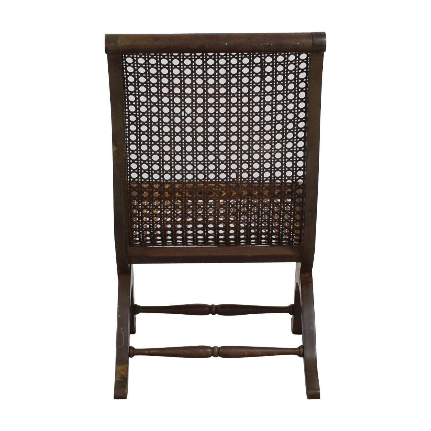 buy Antique Sloped-Back Cane Rattan Accent Chair  Chairs