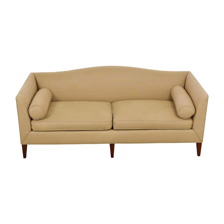 Baker Furniture Baker Furniture Beige Two-Cushion Sofa nj
