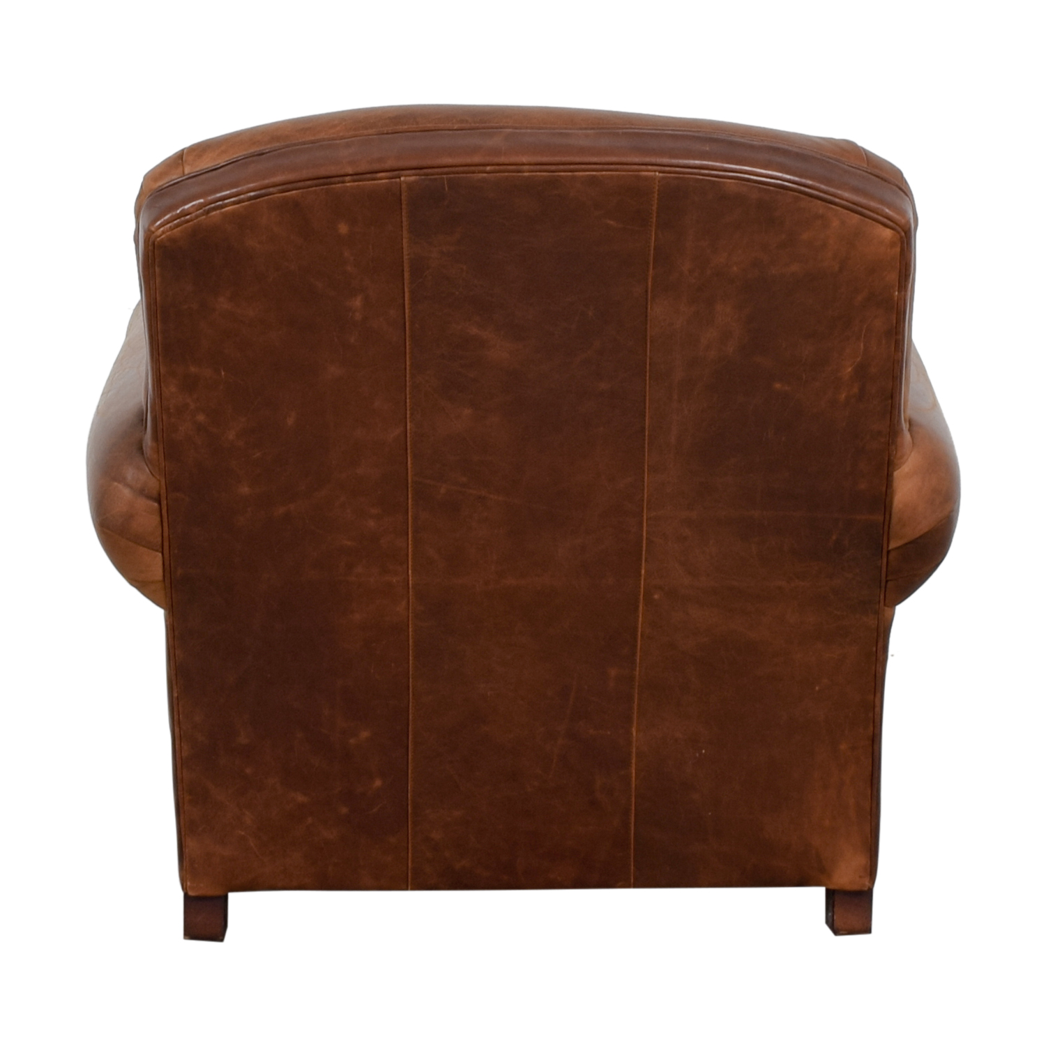 Crate & Barrel Crate & Barrel Brown Leather Club Chair