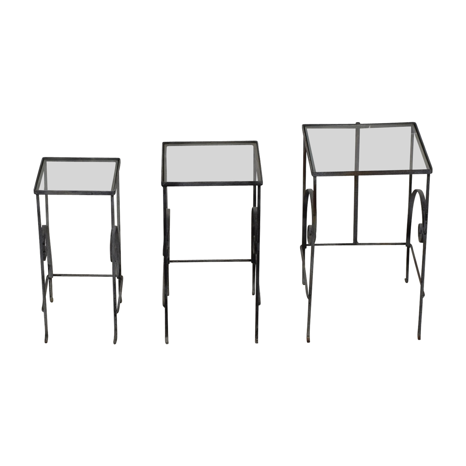 shop Antique Glass & Metal Nesting Tables  Tables