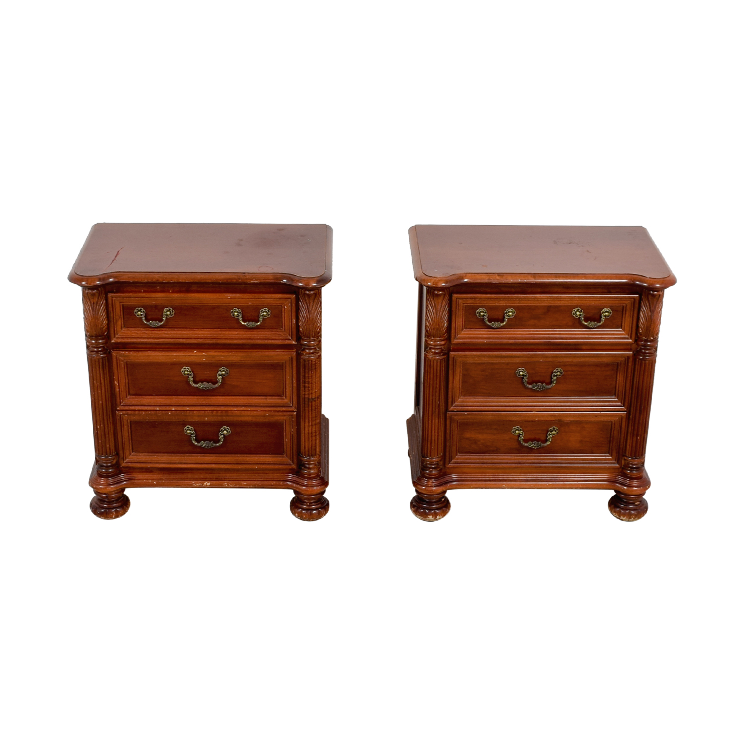 Hooker Furniture Hooker Furniture Three-Drawer Mahogany Night Stands for sale
