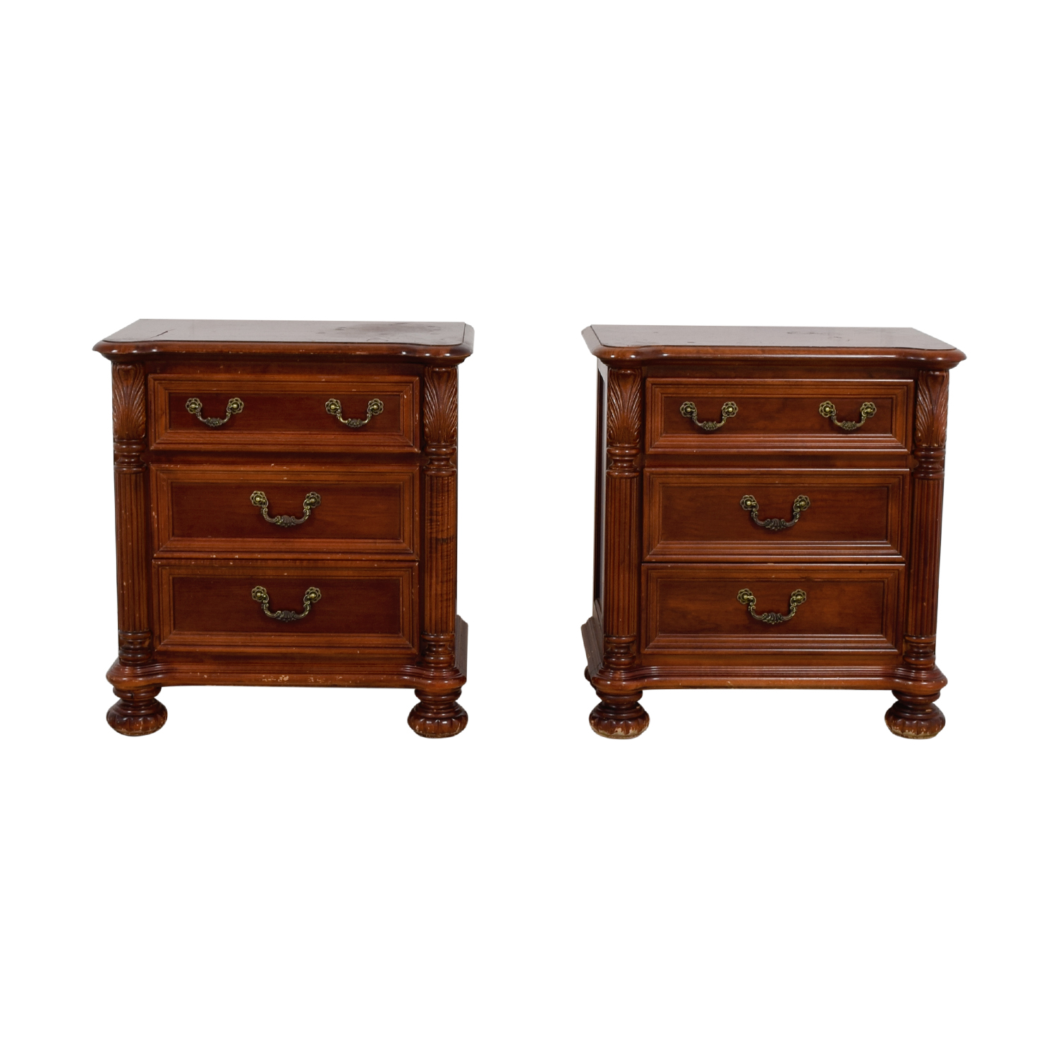 shop Hooker Furniture Three-Drawer Mahogany Night Stands Hooker Furniture