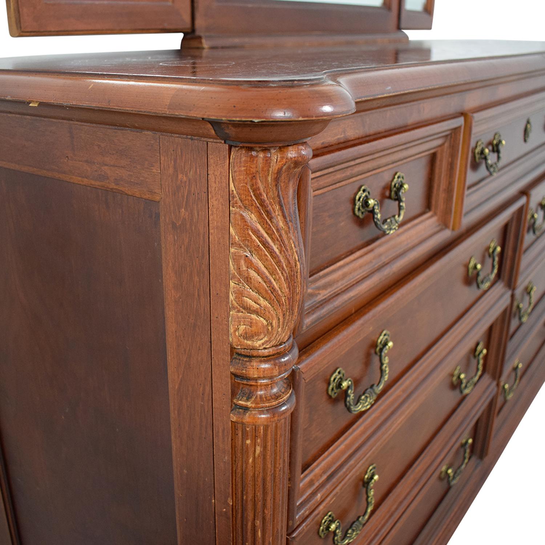 Hooker Hooker Mahogany Nine-Drawer Dresser with Mirror coupon