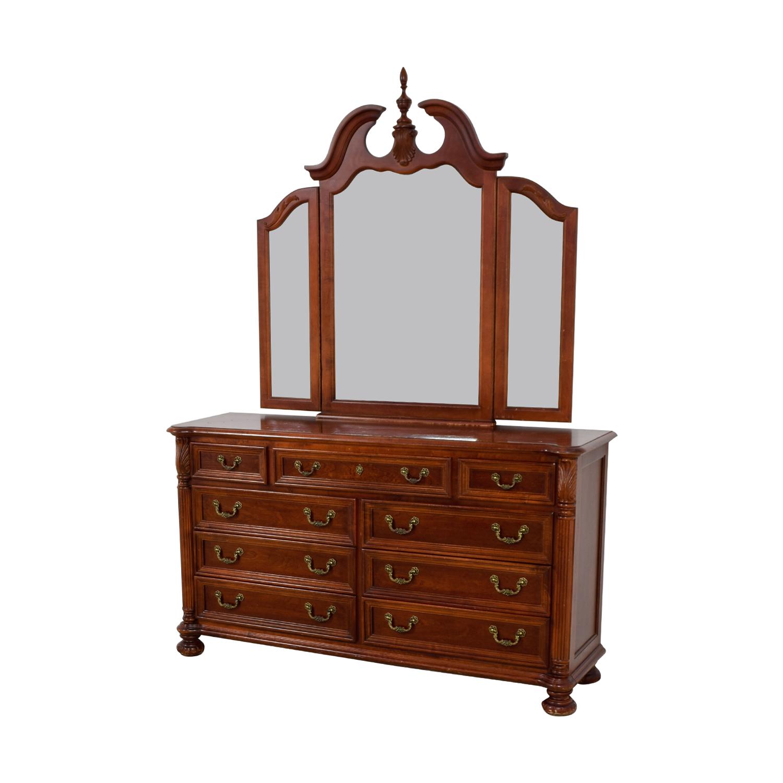 shop Hooker Hooker Mahogany Nine-Drawer Dresser with Mirror online