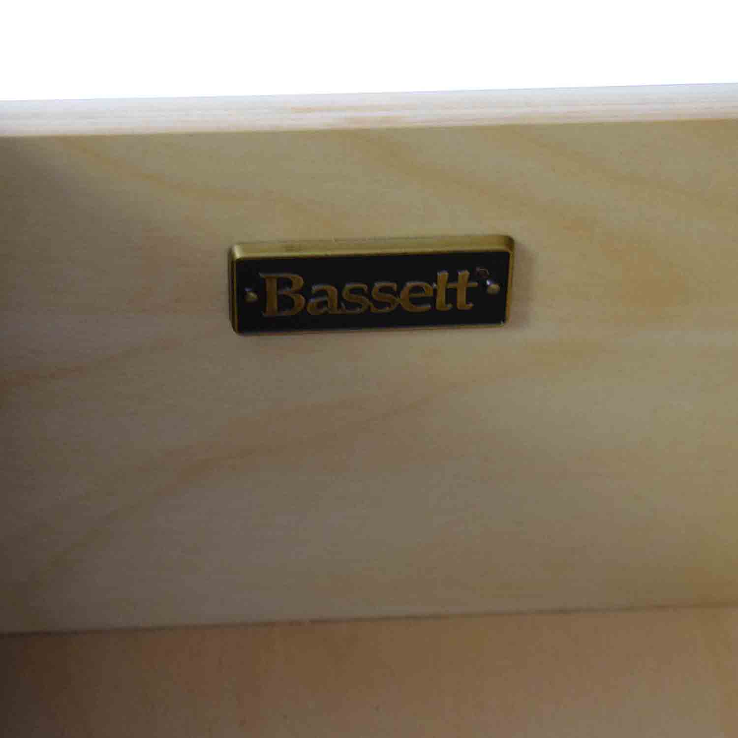 shop Bassett Media Chest and Hutch with Three Drawers Bassett