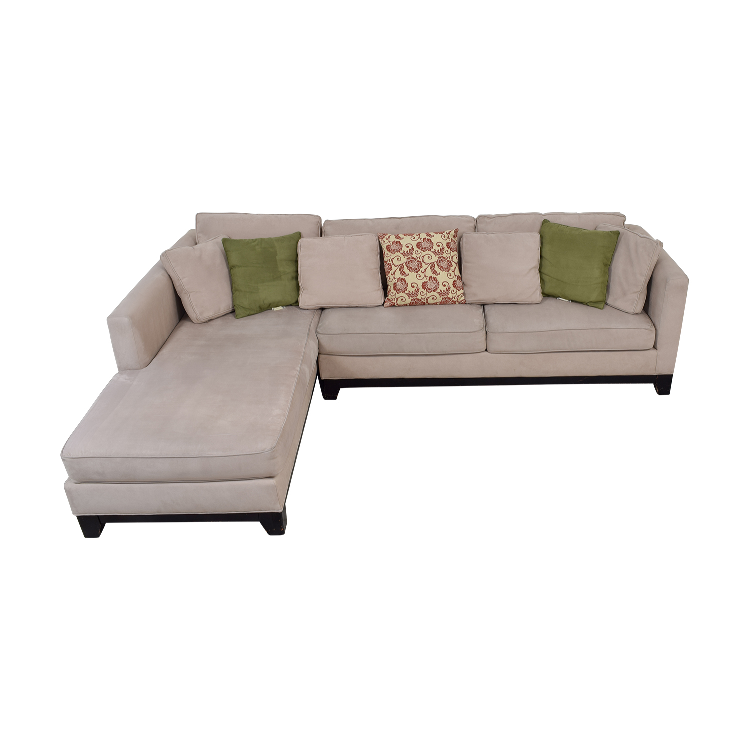 Admirable 76 Off Macys Macys Microfiber Taupe Sectional Sofa Sofas Short Links Chair Design For Home Short Linksinfo