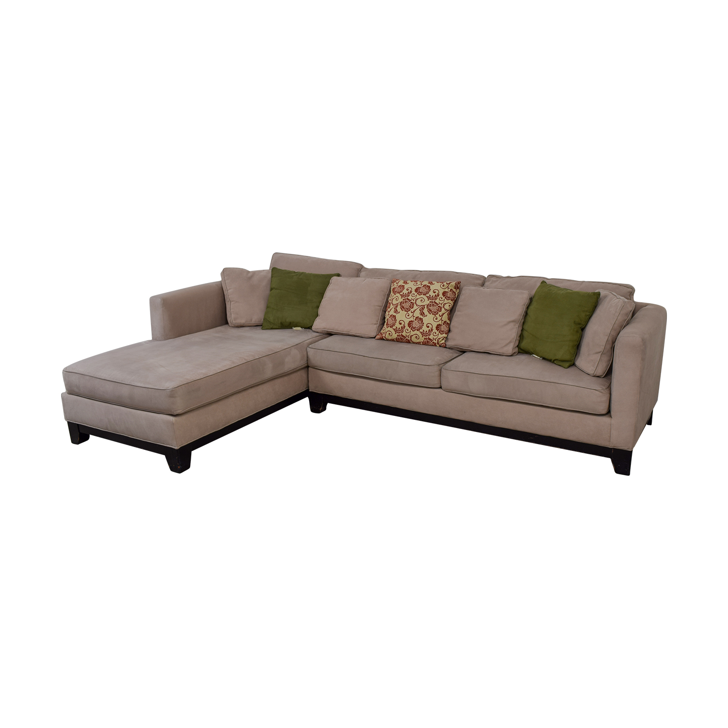 76 Off Macy S Macy S Microfiber Taupe Sectional Sofa
