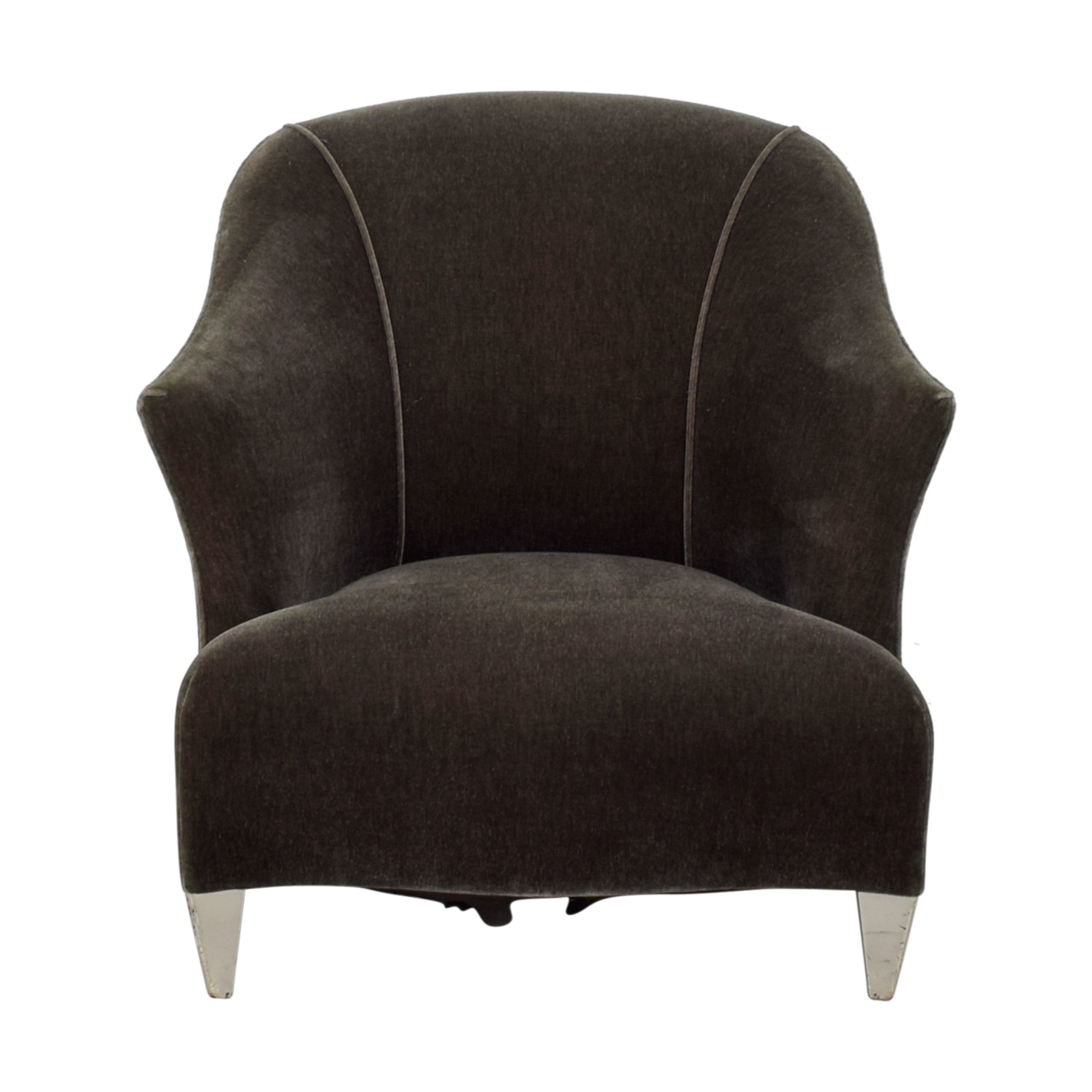 Donghia Shell Charcoal Velour Accent Chair sale