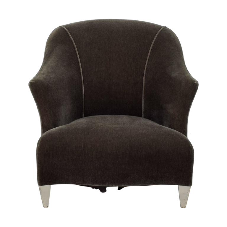 Donghia Donghia Shell Charcoal Velour Accent Chair second hand