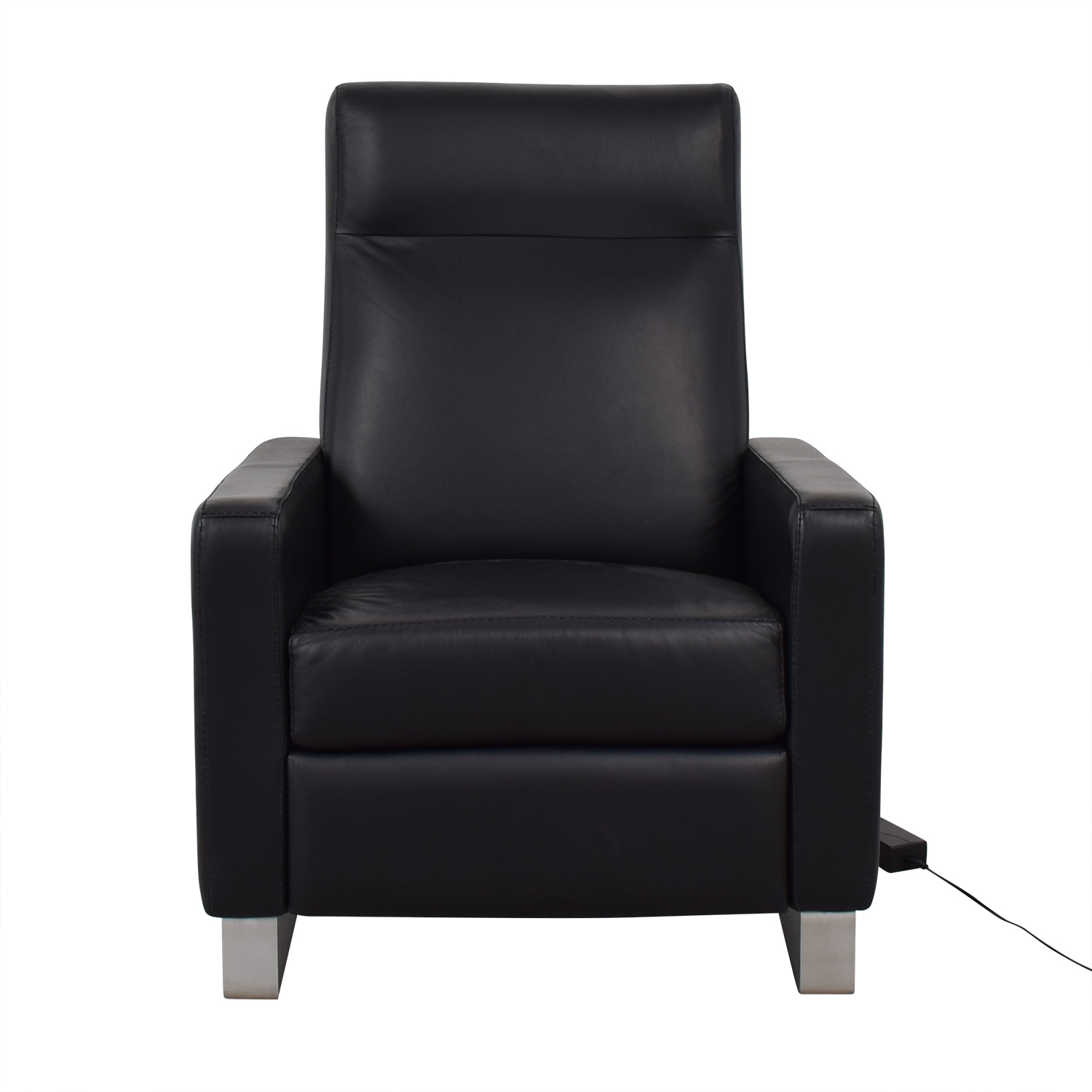 buy Room & Board Dalton Cape Black Leather Power Recliner Room & Board Accent Chairs