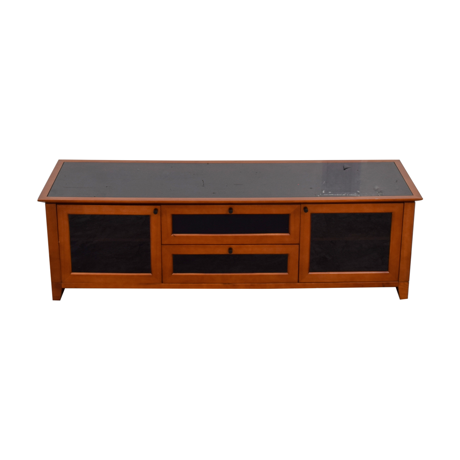 Black And Wood Media Console