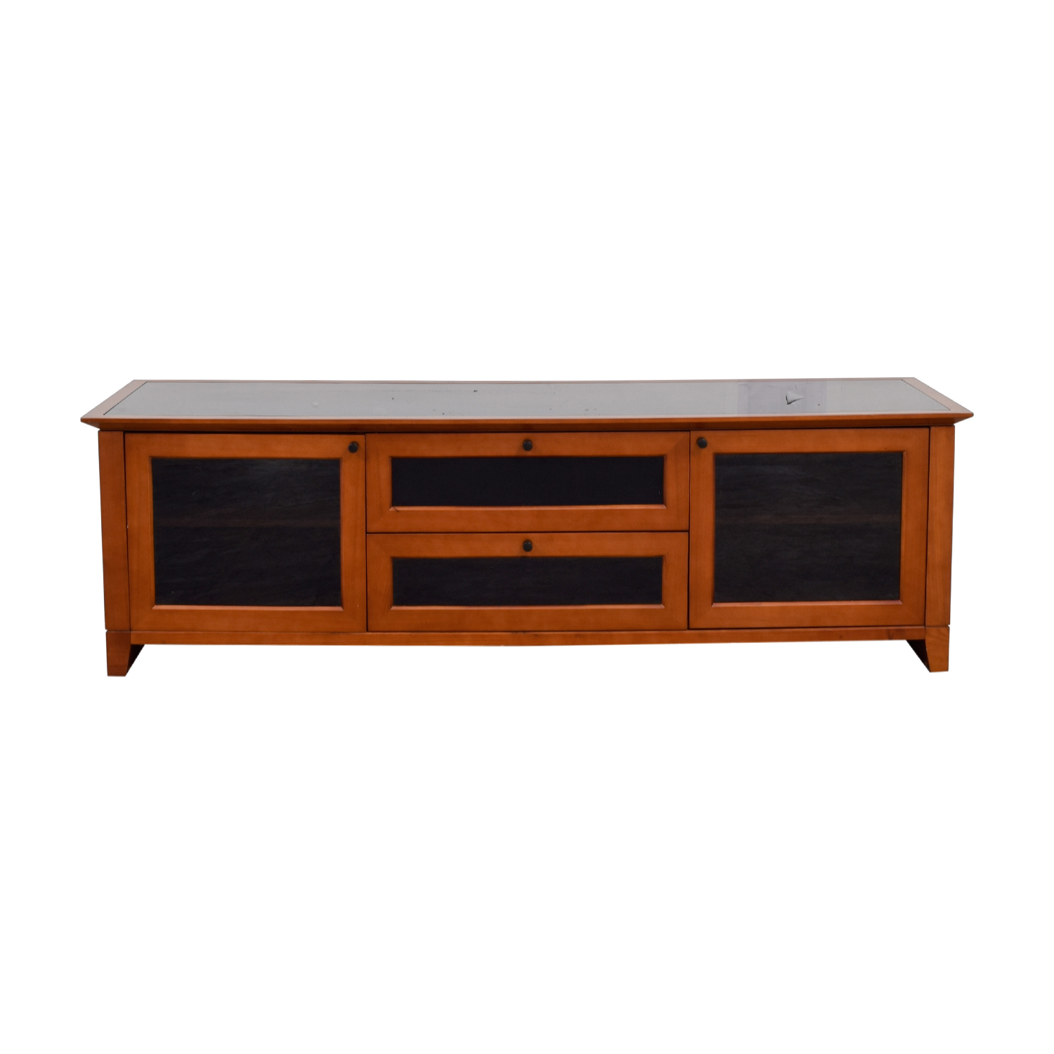 Black and Wood Media Console coupon