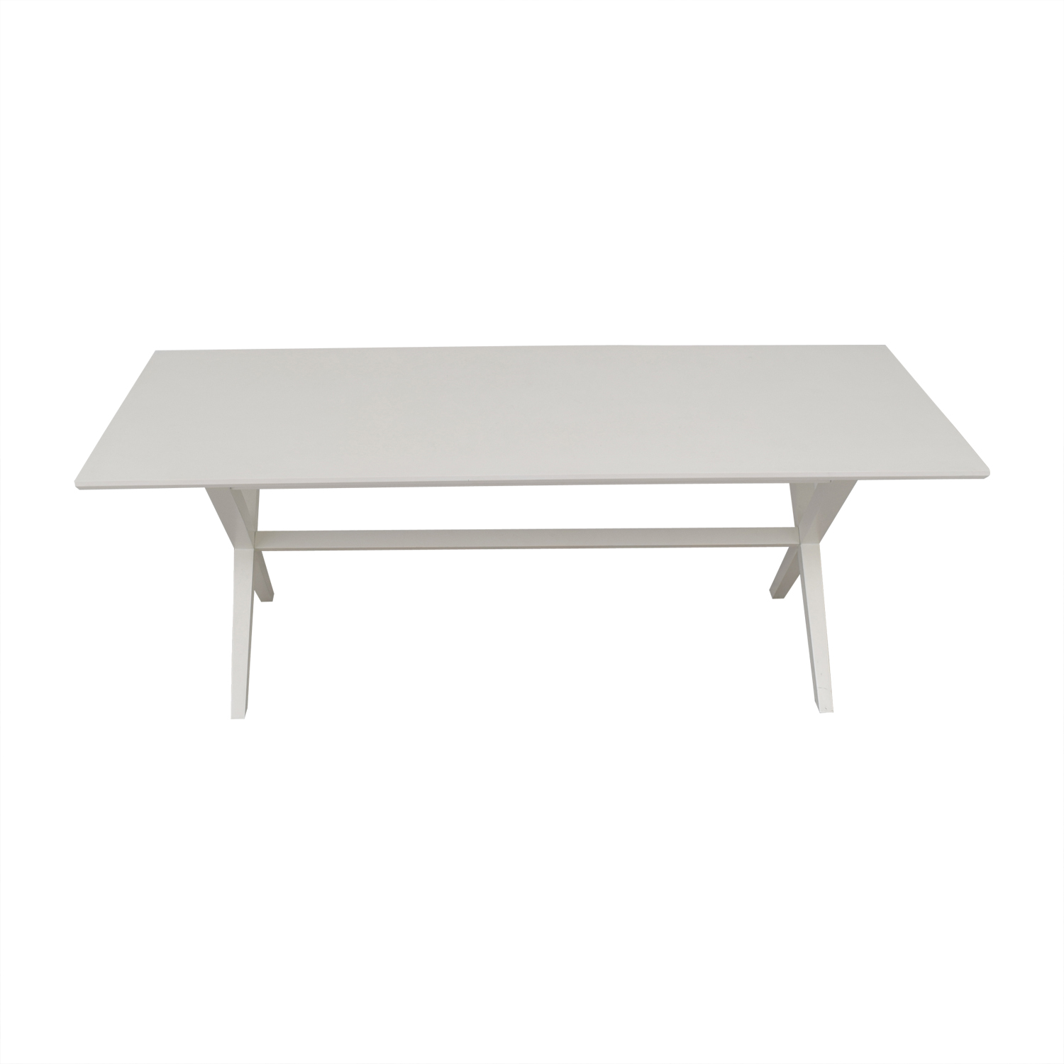 shop Crate & Barrel Crate & Barrel White Wood Dining Table online