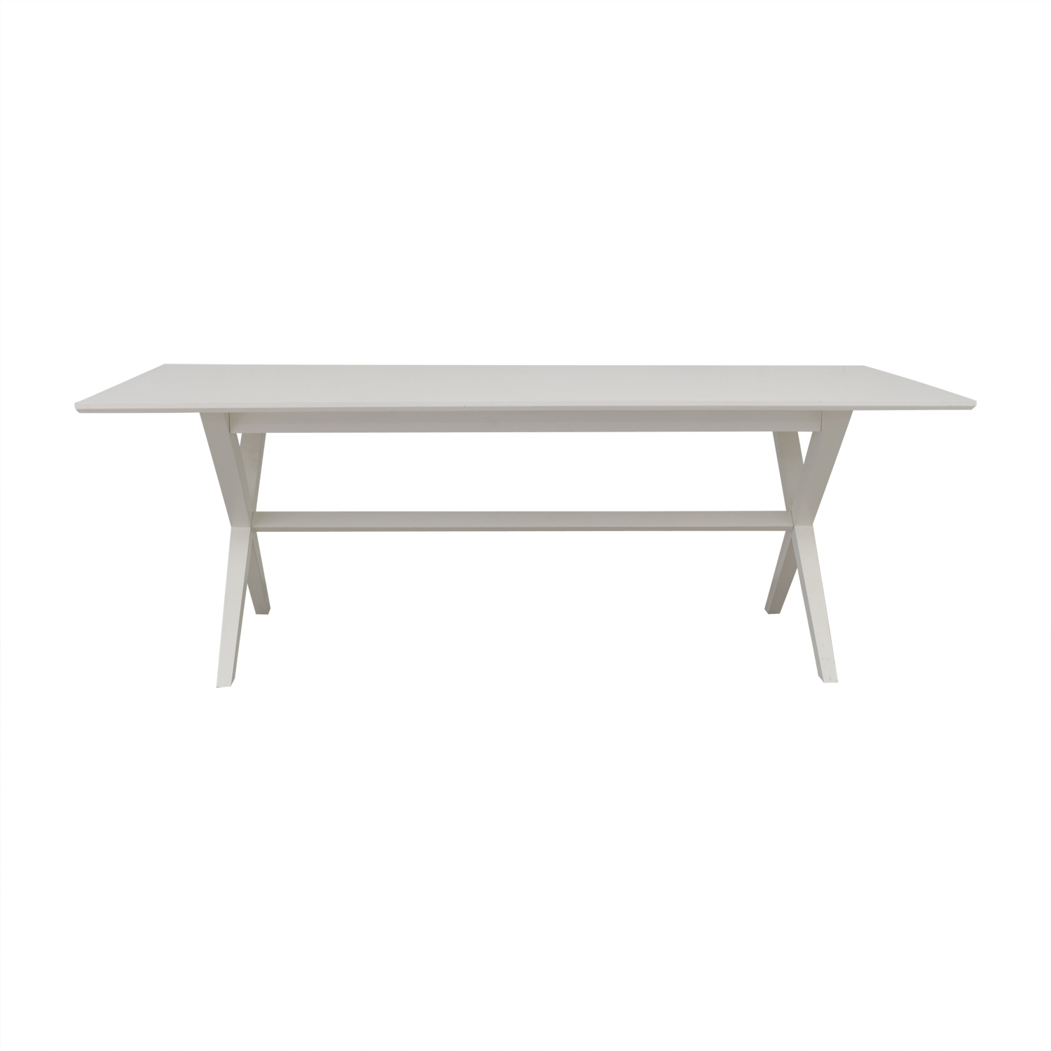 buy Crate & Barrel White Wood Dining Table Crate & Barrel Sofas