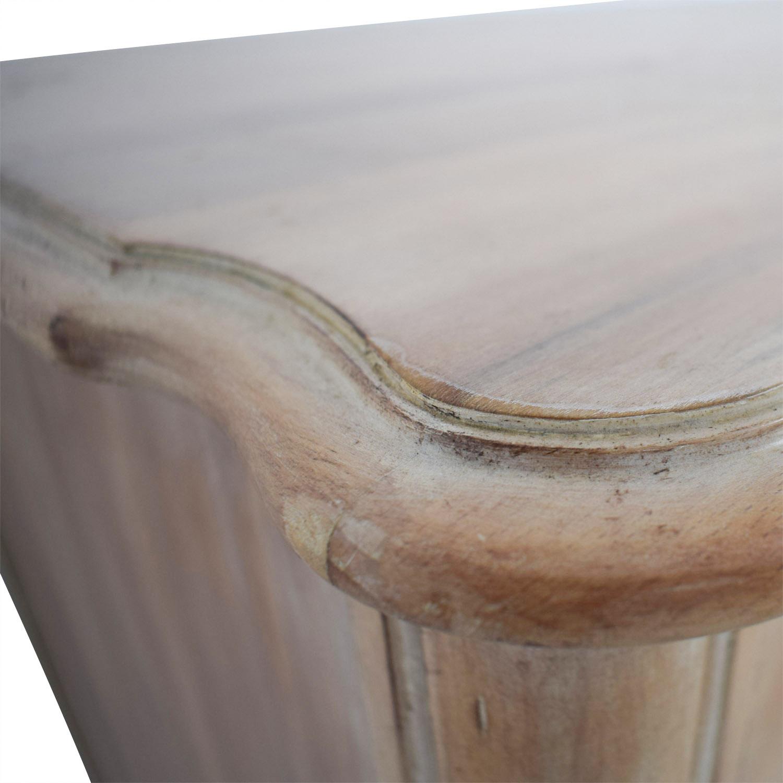 Antique Natural Nine-Drawer Dresser used