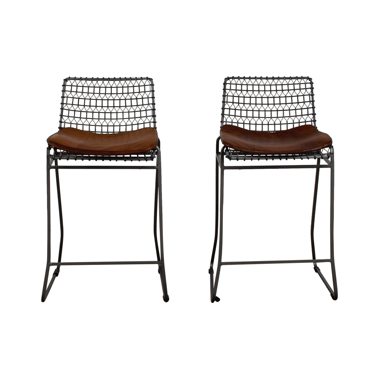 Terrific 79 Off Crate Barrel Crate And Barrel Metal Bar Stools With Sunbrella Cushions Chairs Ncnpc Chair Design For Home Ncnpcorg