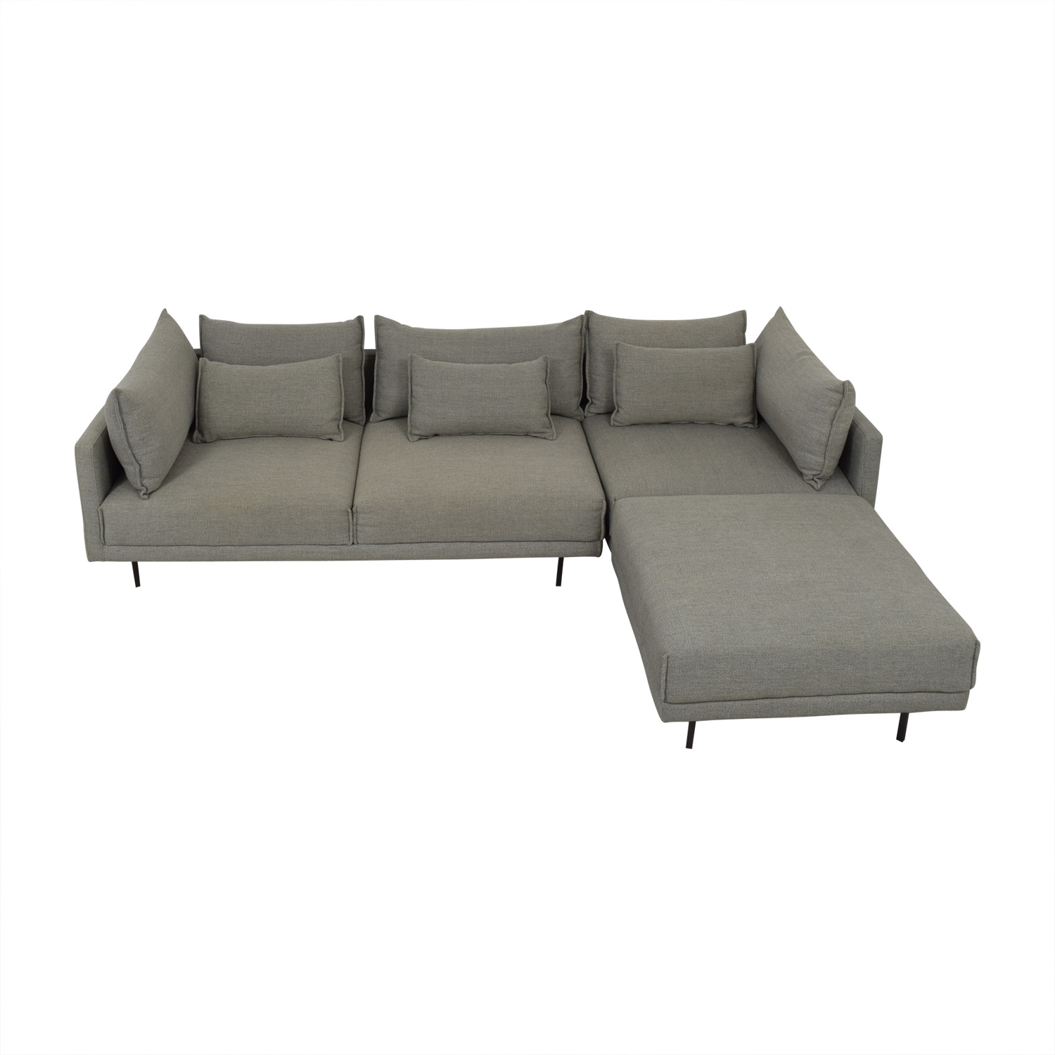 West Elm West Elm Halsey Sectional dimensions