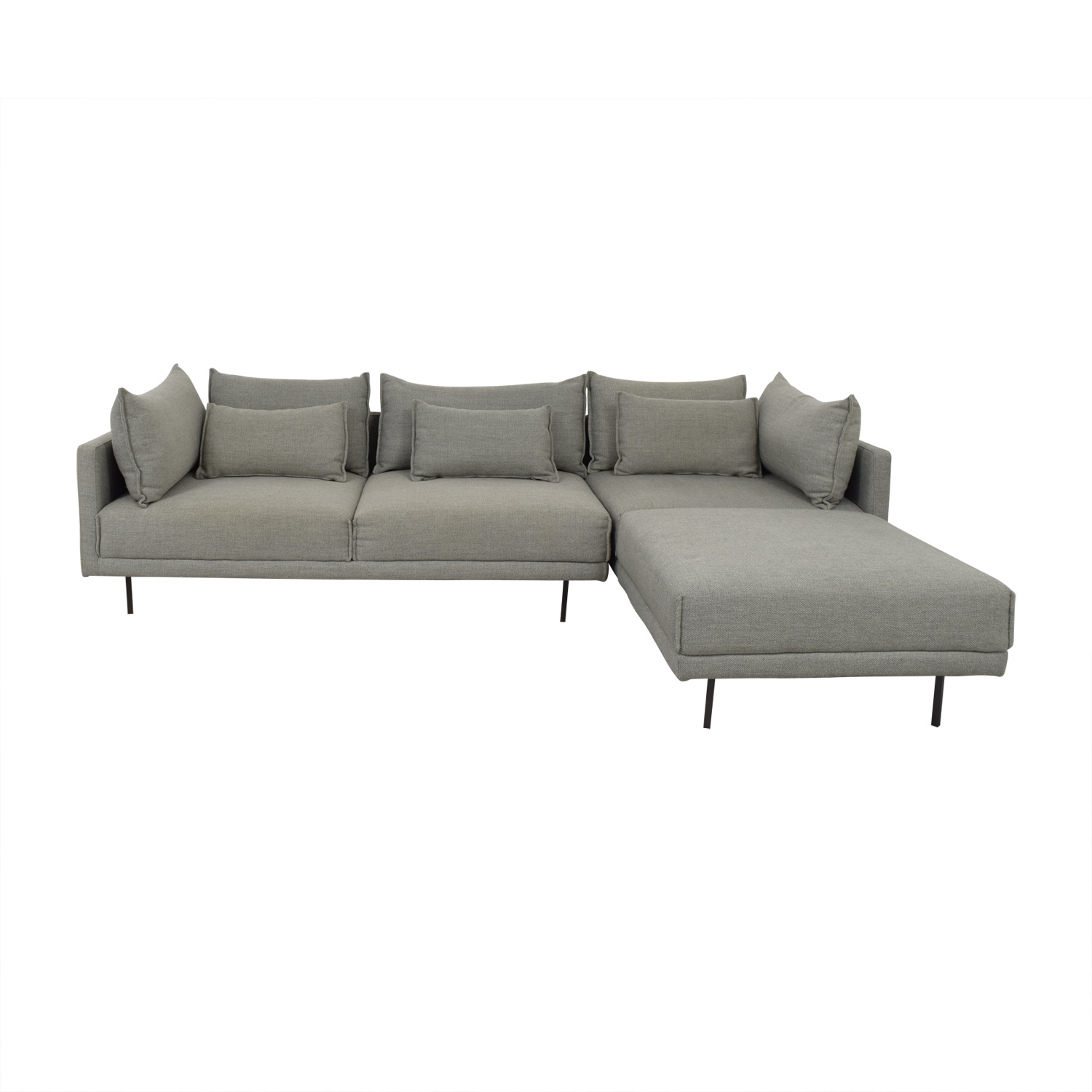 West Elm West Elm Halsey Sectional Grey