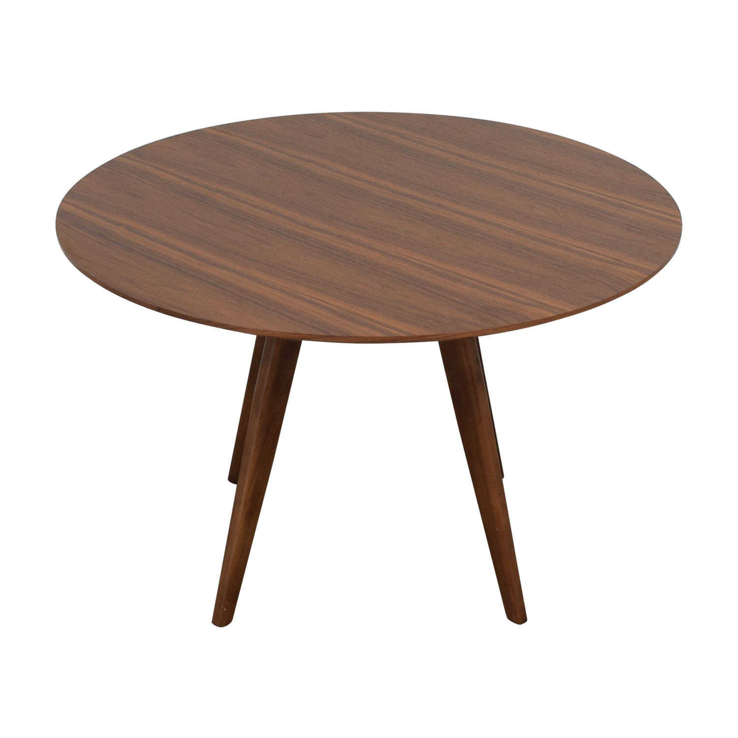 shop Aurelle Home Sole Walnut Round Dining Table Aurelle Home Dinner Tables