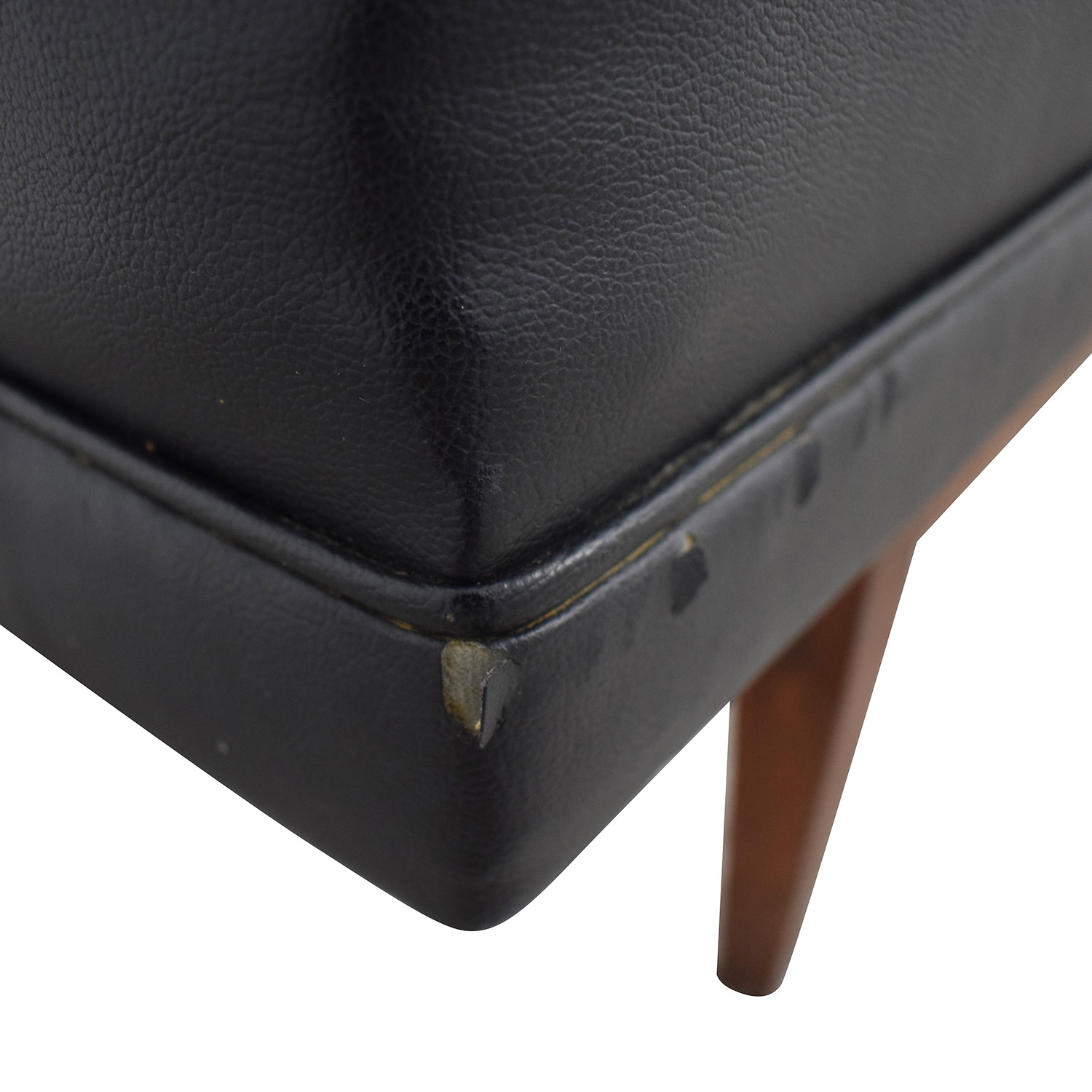 Directional Furniture Black Tufted Leather Sofa Directional Furniture