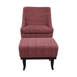 buy Manor and Mews Cary Burgundy Armchair with Footstool Manor & Mews