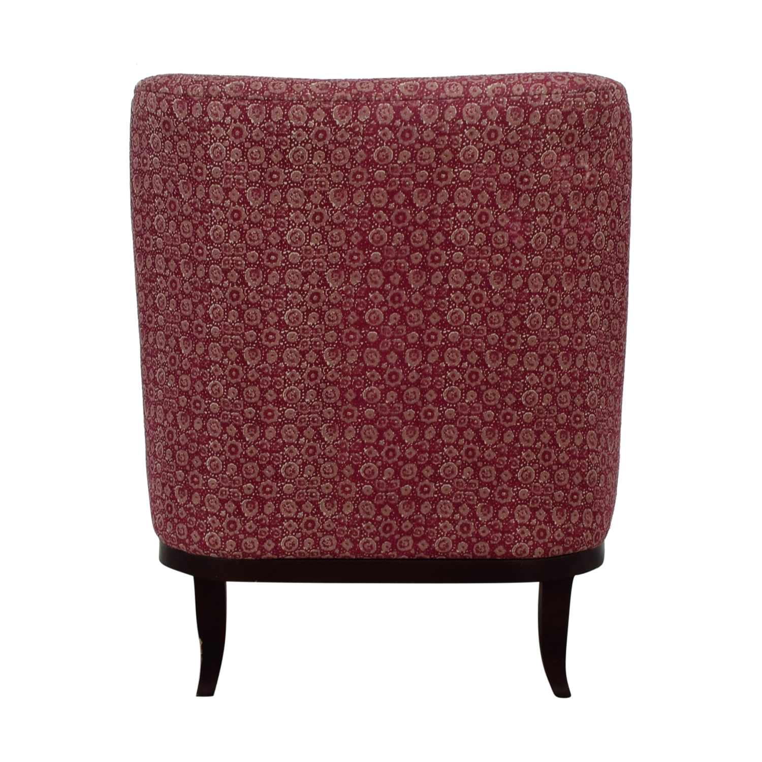 shop Manor and Mews Cary Burgundy Armchair with Footstool Manor and Mews Accent Chairs