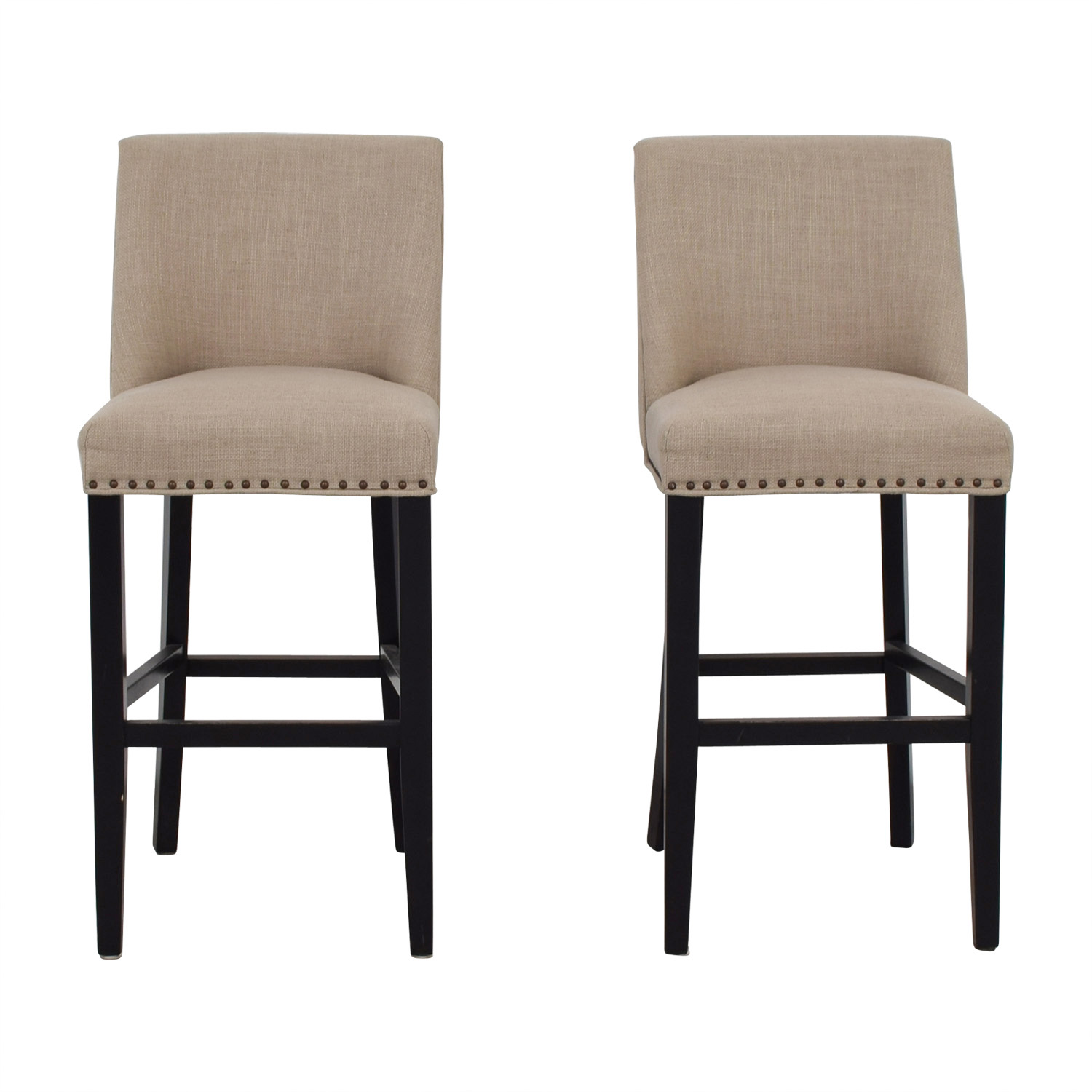 Pier 1 Imports Grey Linen Stools / Chairs