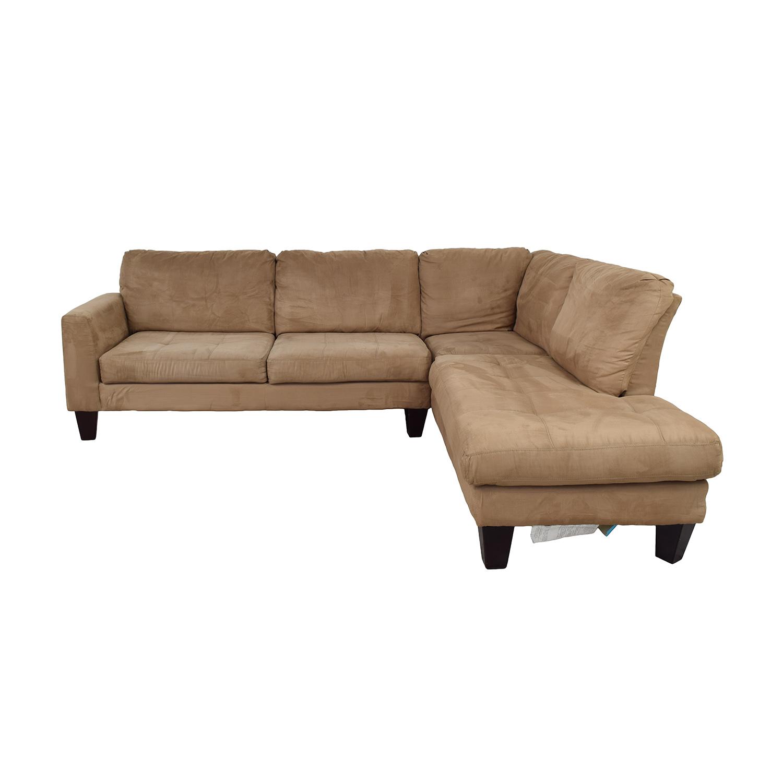 Jennifer Furniture Beige Chaise