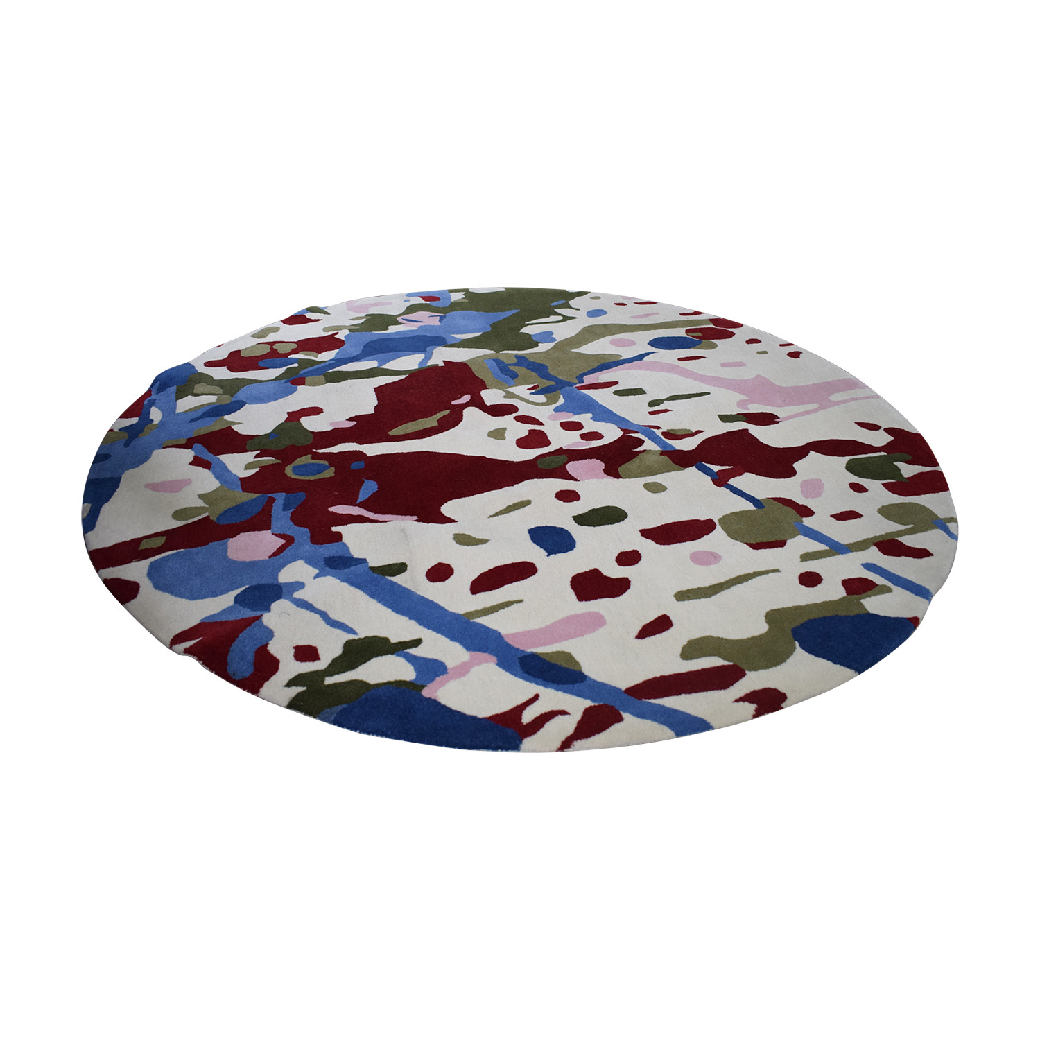 Obeetee Round Handtufted Multi-Colored Rug Obeetee